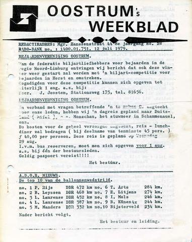 Oostrum's Weekblad 1979-07-12