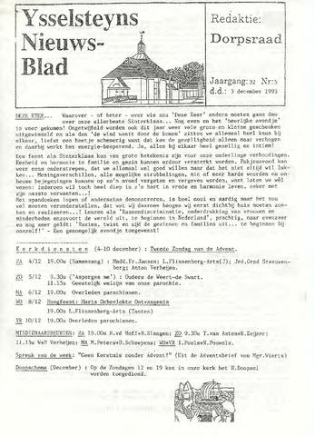 Ysselsteyns Nieuwsblad 1993-12-03