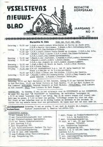 Ysselsteyns Nieuwsblad 1983-05-13