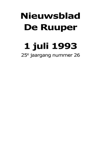 Dorpsblad Leunen-Veulen-Heide 1993-07-01