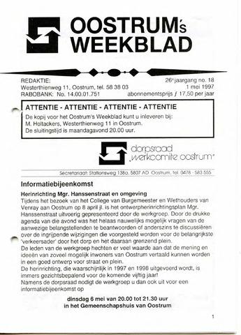 Oostrum's Weekblad 1997-05-01