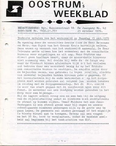 Oostrum's Weekblad 1979-10-25