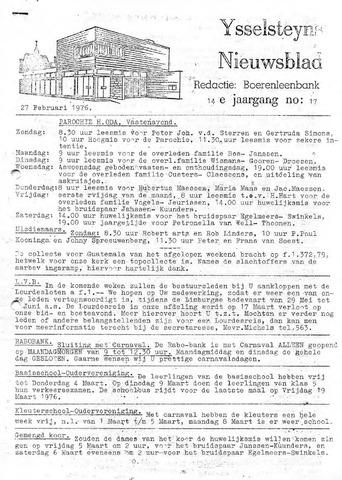 Ysselsteyns Nieuwsblad 1976-02-27
