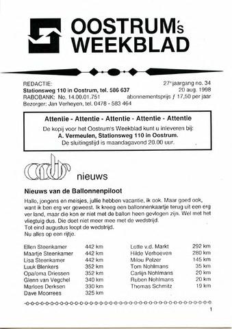 Oostrum's Weekblad 1998-08-20