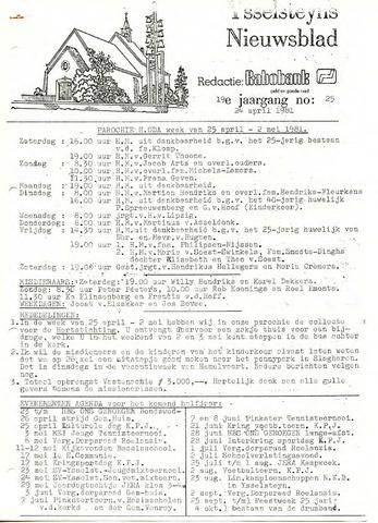 Ysselsteyns Nieuwsblad 1981-04-25