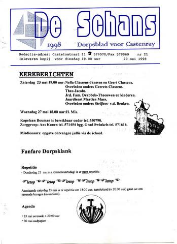 Castenrays dorpsblad De Schans 1998-05-20