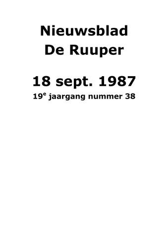 Dorpsblad Leunen-Veulen-Heide 1987-09-18