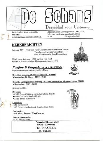 Castenrays dorpsblad De Schans 2005-09-21