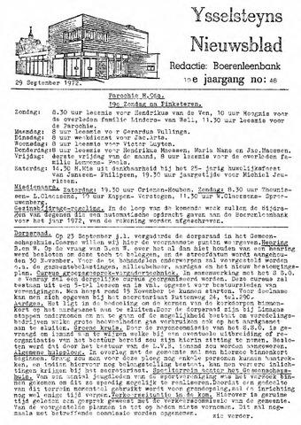 Ysselsteyns Nieuwsblad 1972-09-29