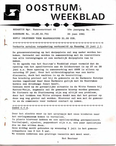 Oostrum's Weekblad 1981-06-25