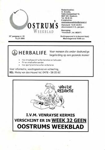 Oostrum's Weekblad 2006-07-13