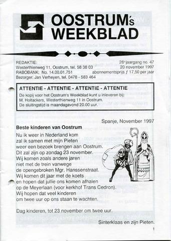 Oostrum's Weekblad 1997-11-20