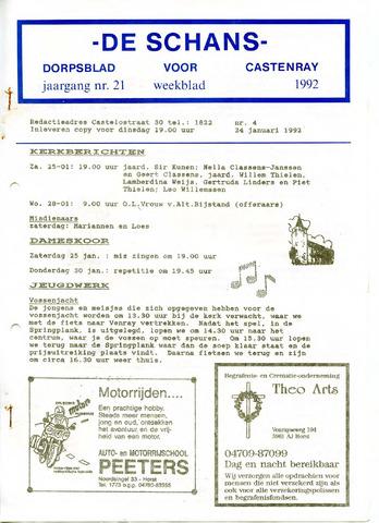 Castenrays dorpsblad De Schans 1992-01-24