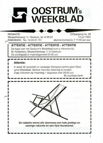 Oostrum's Weekblad 1994-07-14