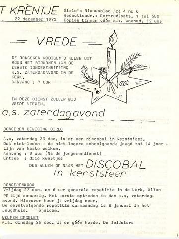 Oirlo's dorpsblad 't Krèntje 1972-12-22