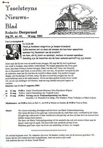 Ysselsteyns Nieuwsblad 2001-08-10