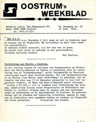Oostrum's Weekblad 1975-06-26