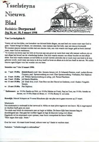 Ysselsteyns Nieuwsblad 1998-03-05
