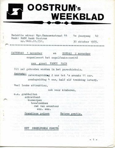 Oostrum's Weekblad 1975-10-30