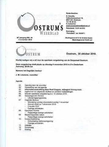 Oostrum's Weekblad 2010-11-04