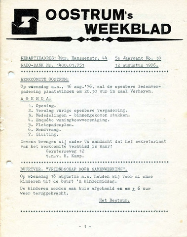 Oostrum's Weekblad 1976-08-12