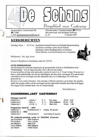 Castenrays dorpsblad De Schans 2007-01-17