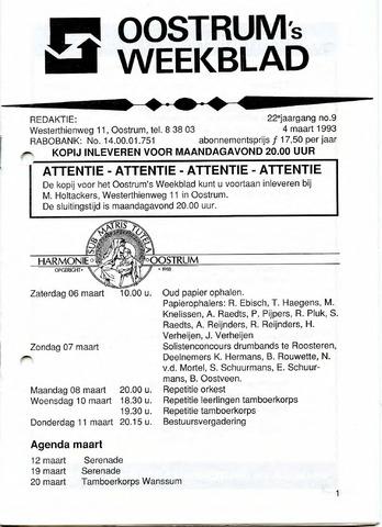 Oostrum's Weekblad 1993-03-04