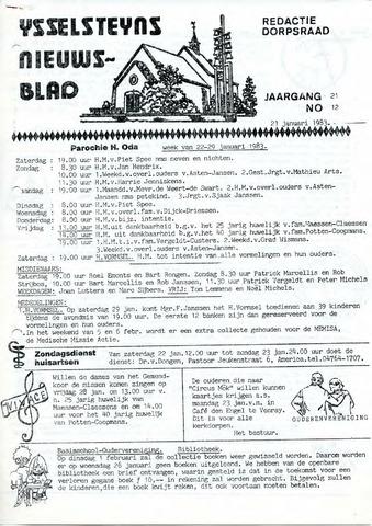 Ysselsteyns Nieuwsblad 1983-01-21