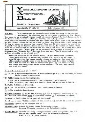 Ysselsteyns Nieuwsblad 1989-03-10