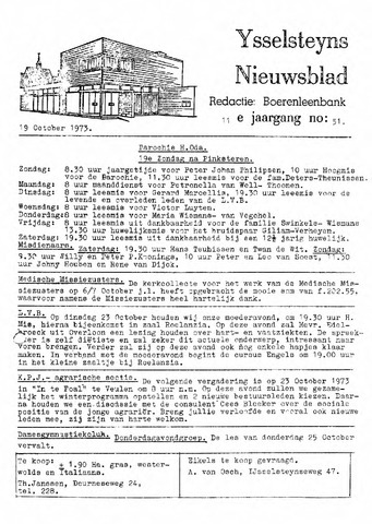 Ysselsteyns Nieuwsblad 1973-10-19