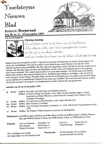 Ysselsteyns Nieuwsblad 1999-11-19