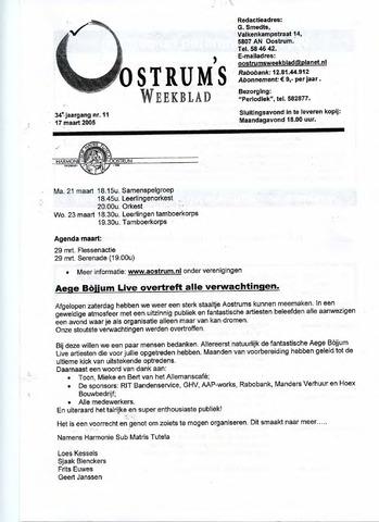 Oostrum's Weekblad 2005-03-17