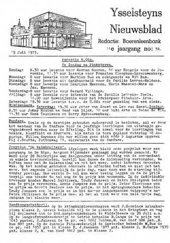 Ysselsteyns Nieuwsblad 1973-07-19