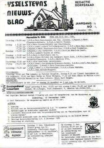 Ysselsteyns Nieuwsblad 1984-12-07
