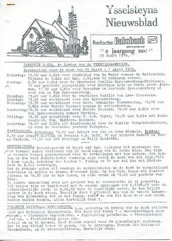 Ysselsteyns Nieuwsblad 1979-03-23