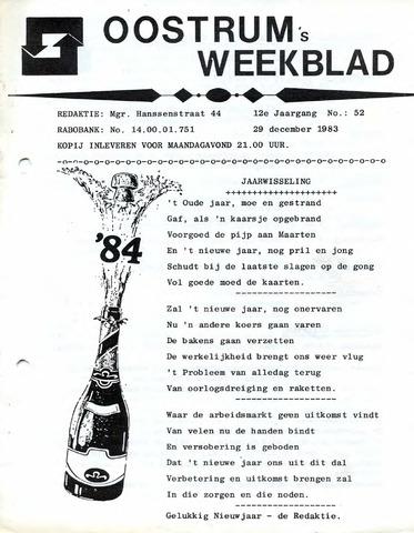 Oostrum's Weekblad 1983-12-29