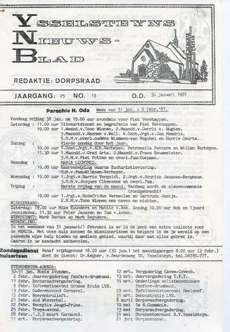 Ysselsteyns Nieuwsblad 1987-01-30
