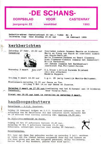 Castenrays dorpsblad De Schans 1993-02-26