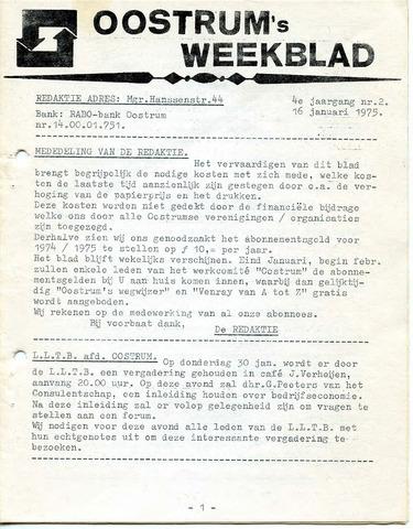 Oostrum's Weekblad 1975-01-16