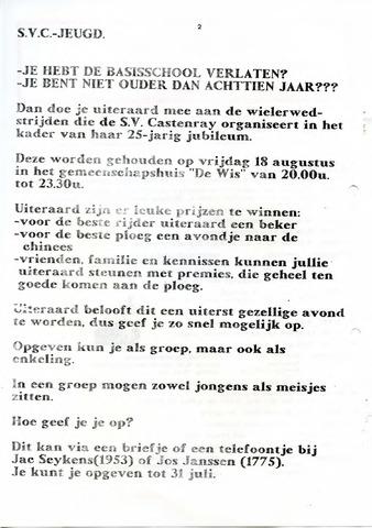 Castenrays dorpsblad De Schans 1989-07-21