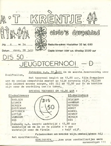 Oirlo's dorpsblad 't Krèntje 1977-07-28