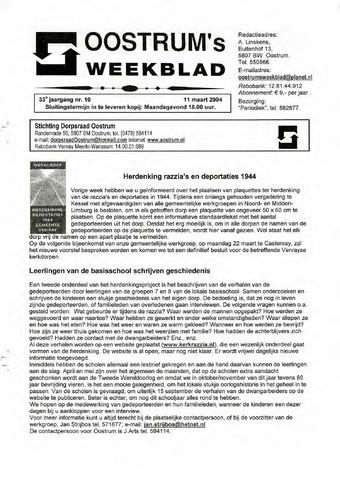 Oostrum's Weekblad 2004-03-11