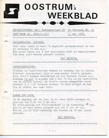 Oostrum's Weekblad 1978-05-11