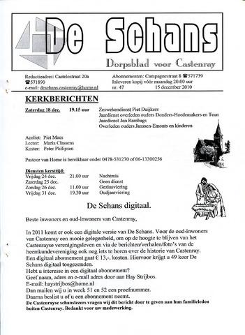 Castenrays dorpsblad De Schans 2010-12-15