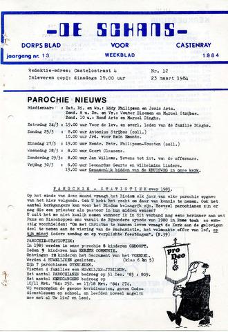 Castenrays dorpsblad De Schans 1984-03-23