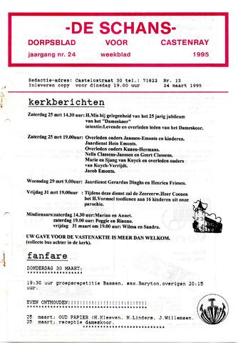 Castenrays dorpsblad De Schans 1995-03-24
