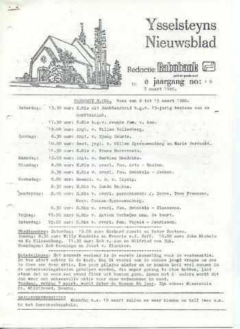 Ysselsteyns Nieuwsblad 1980-03-07