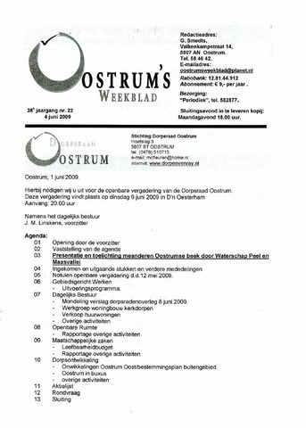 Oostrum's Weekblad 2009-06-04