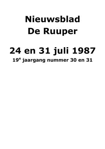 Dorpsblad Leunen-Veulen-Heide 1987-07-31