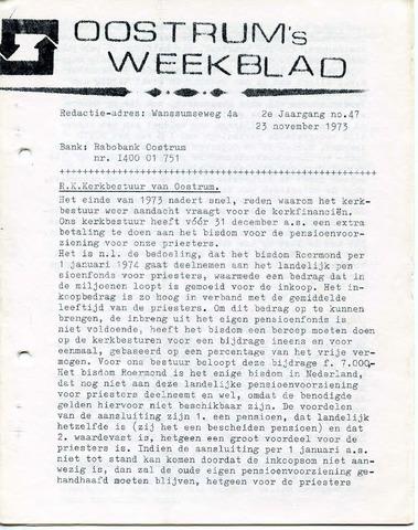 Oostrum's Weekblad 1973-11-23
